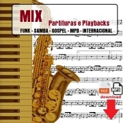 Mix Partituras Playbacks MPB Funk Bossa Gospel Samba