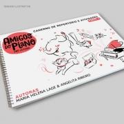 Livro Amigos do Piano Caderno de Atividades do Pré Leitura Lumah Cultura ( Parte 1 )  pronta entrega é na Loja Mineira do Músico | Livro impresso Amigos do Piano