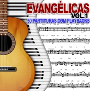 SAX ALTO Partituras Evangélicas com Playbacks Gospel 50 Músicas (Volume 1)