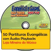 Trompete Partituras Evangélicas com Playbacks Gospel 50 Músicas (Volume 1)