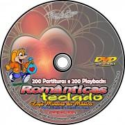 Teclado Partituras Românticas + 200 Playbacks MP3 Acompanhamento para Teclado