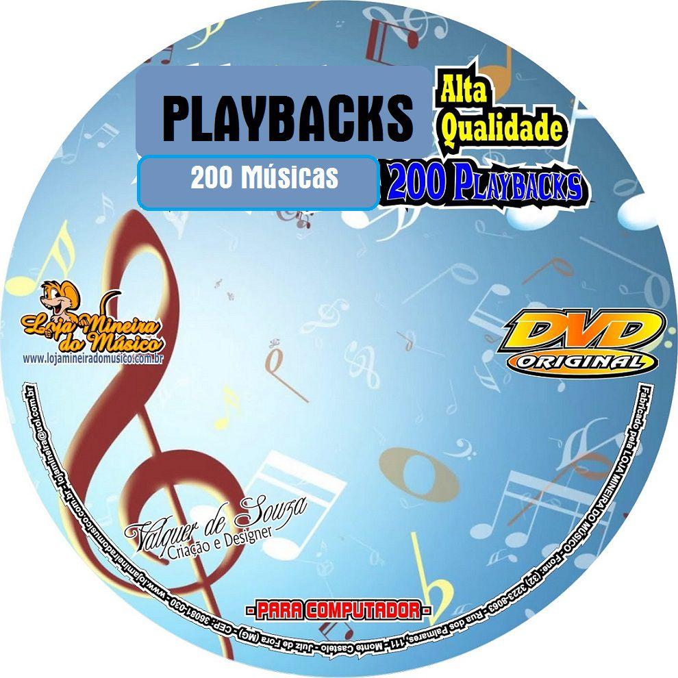 200 Músicas Áudios Playbacks Populares de Alta Qualidade em MP3 + 200 Letras de Musicas (Sem Partituras) | São Playbacks para você cantar em cima, como se fosse um Karaokê em MP3 Pre Gravado Sem PDFs