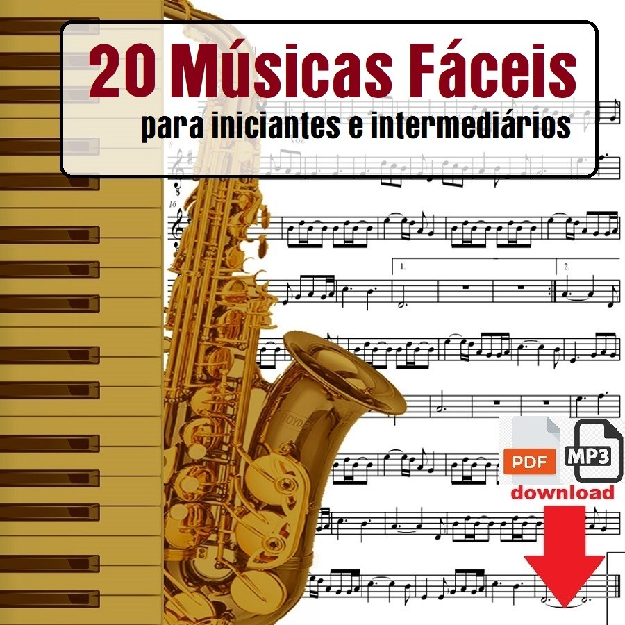 20 Partituras Fáceis Iniciantes com Playbacks