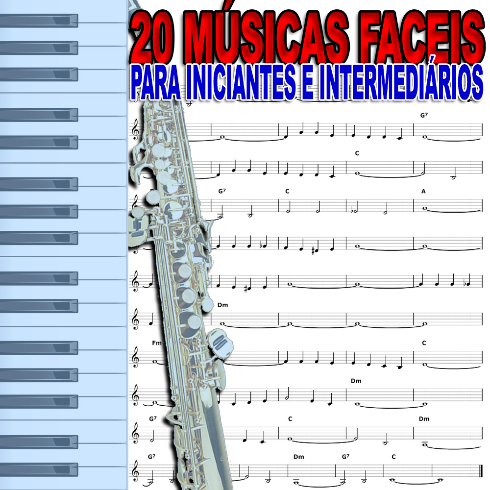20 Partituras Iniciante com Playbacks Fáceis