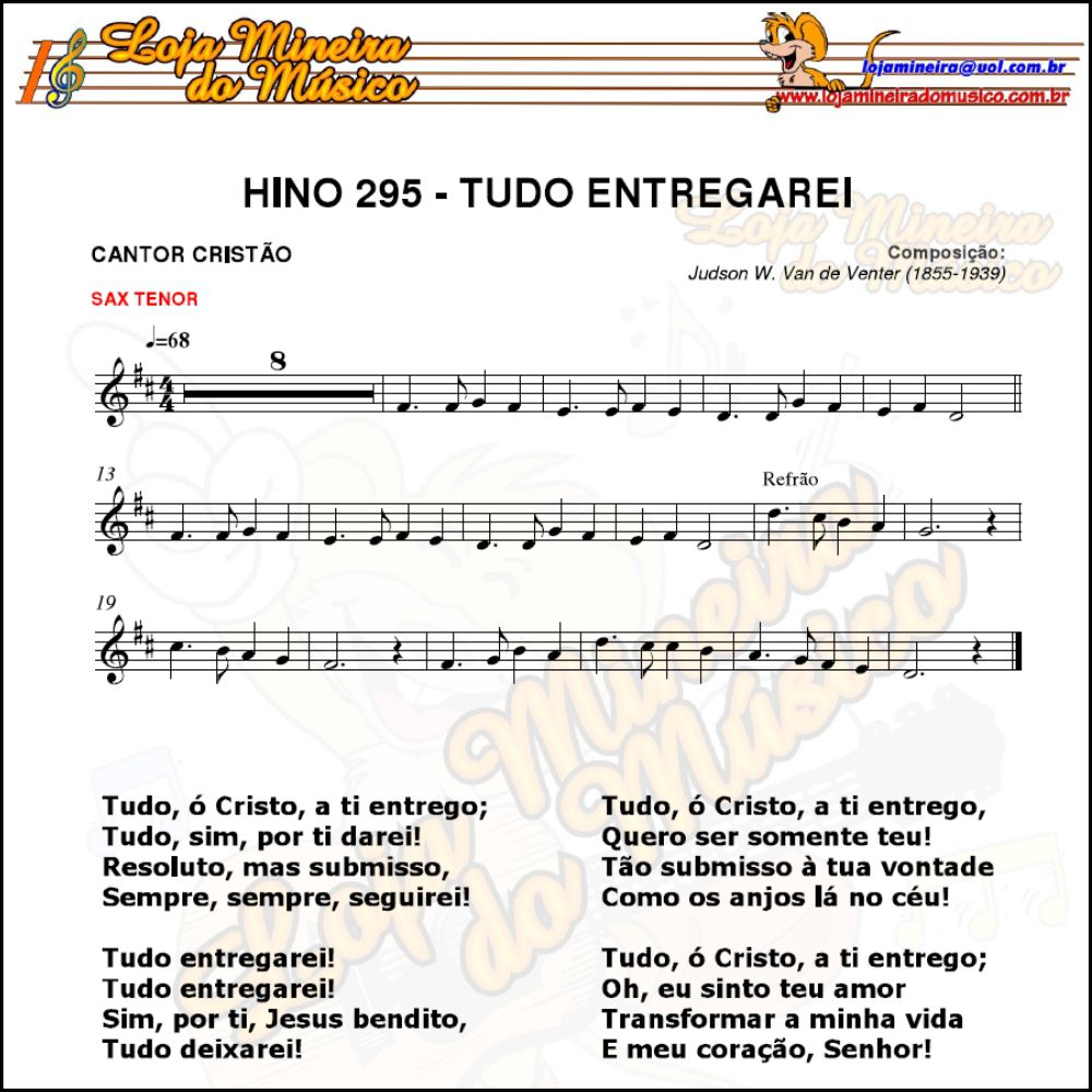 Saxofone Tenor Grupo Partituras Gospel evangélicas | Grande acervo de partituras gospel | Grande acervo de partituras evangélicas | O maior acervo de partitura de música gospel.