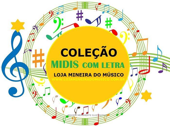 f42333024ed 3000 Midis com Letra no Visor do Teclado Lyrics (Pacote)