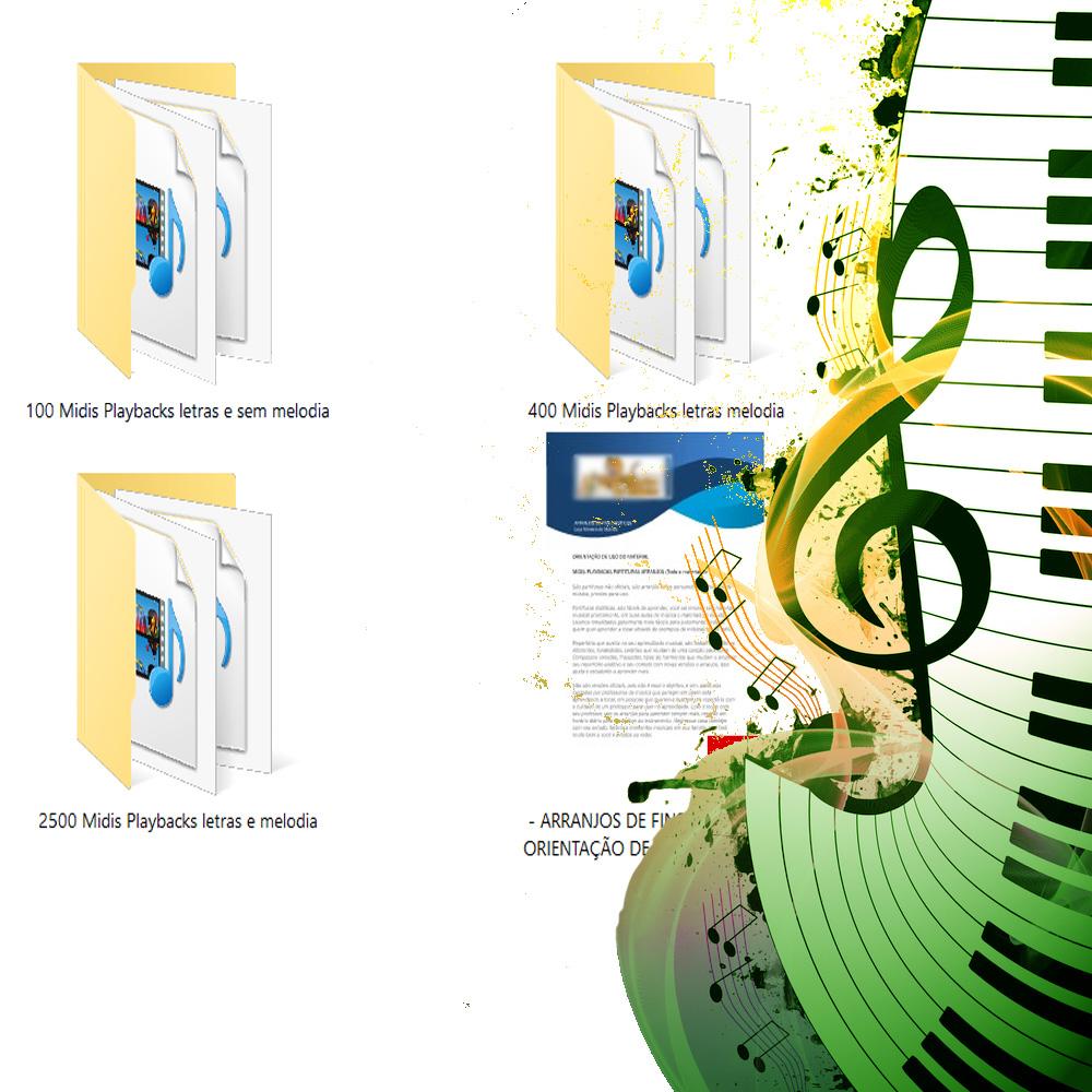 3000 Midis com Letra no Visor do Teclado Lyrics (Pacote Premium Midis ) Compatível com todos os modelos de Teclado Midis que aceitem MIDIS