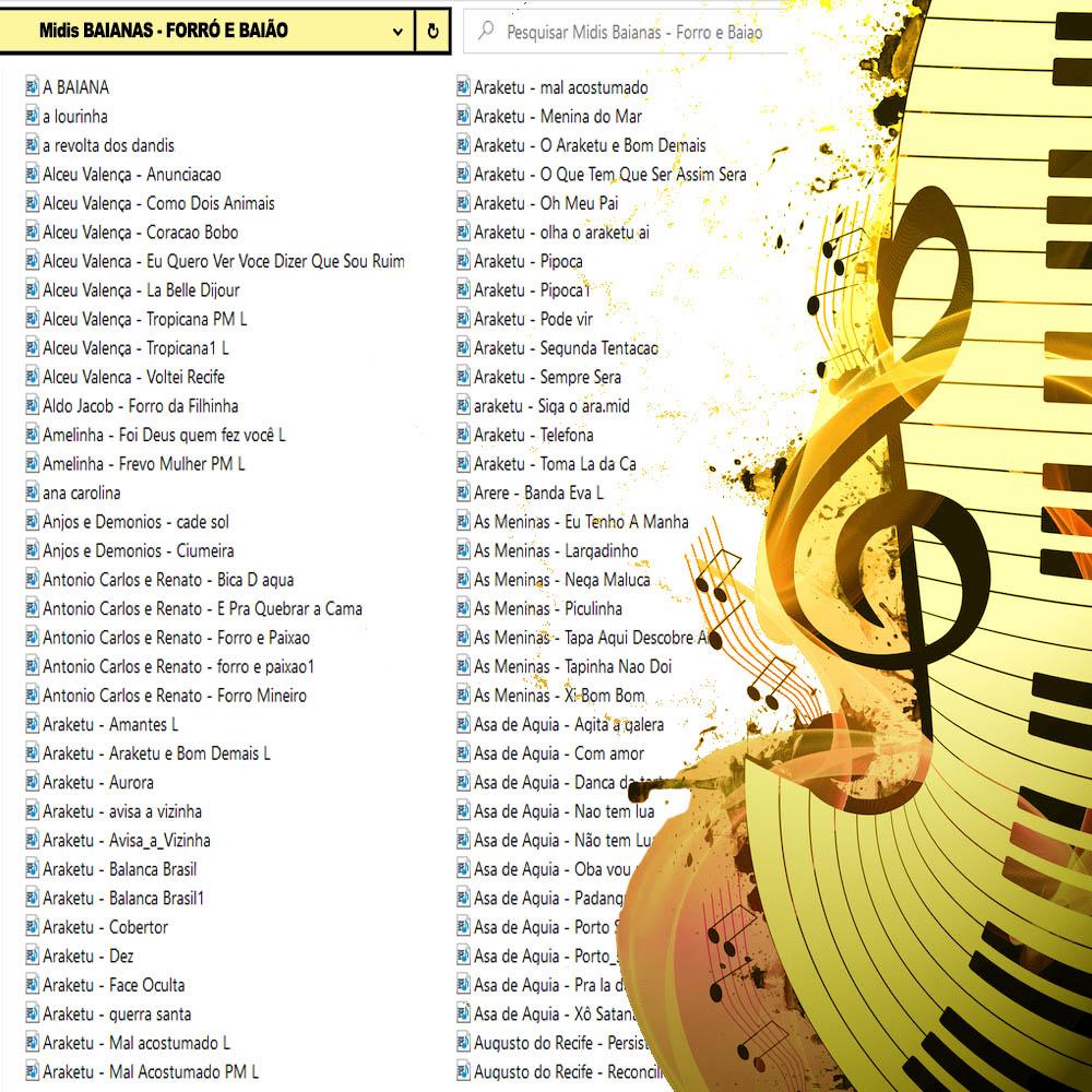 45000 Midis para Teclado(Pacote de Musicas MIDI e Karaoke MID | Playbacks Midis e Midis com Melodia | Midis para Teclado Yamaha Roland Korg Casio Outros
