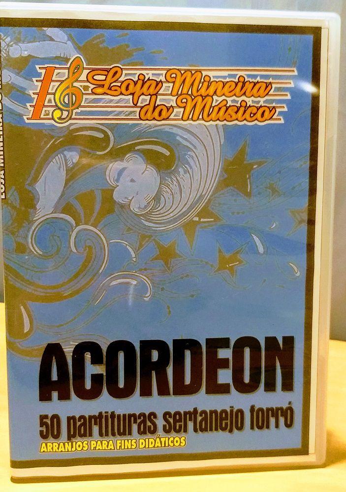 50 Partituras para Acordeon Sertanejo Forró Raiz para Acordeon | Sertanejo e Forró Partituras com Playbacks Acordeon (Claves de Sol e Fá mais Cifras - Compatível também com Teclado e Piano)