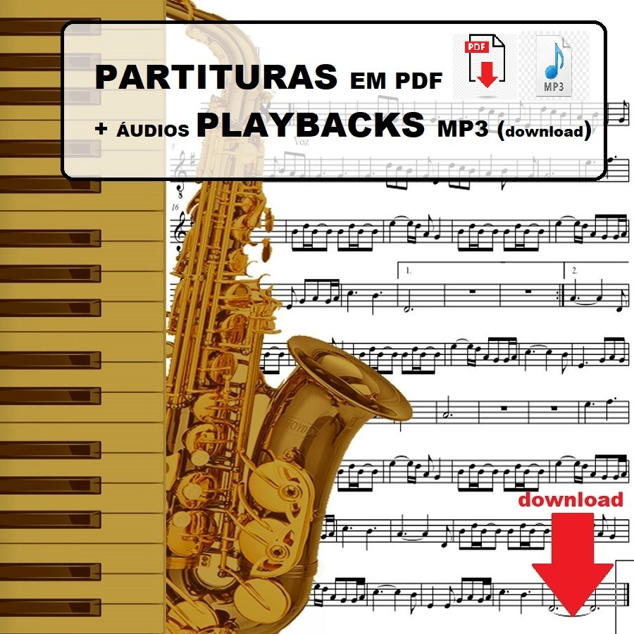 50 Sertanejo Forró Partituras c/ Playbacks MP3 Baixe