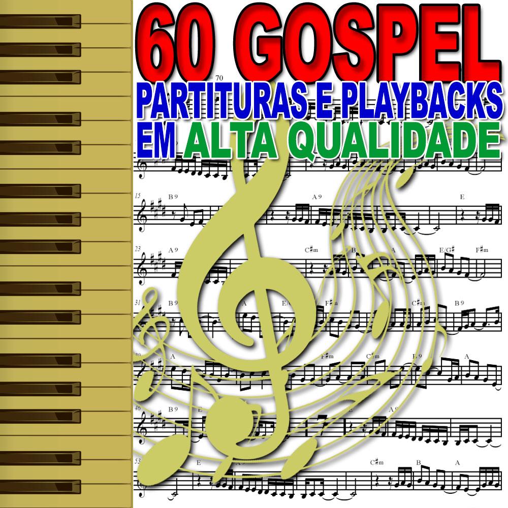 60 Gospel Partituras e Playbacks (E-mail)