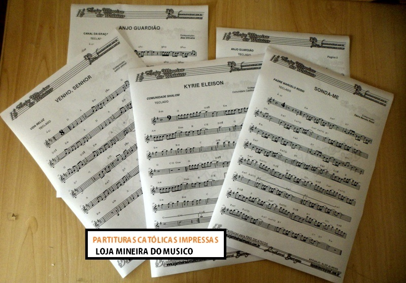 Apostila de Partituras Católicas + CD de Playbacks MP3 e Midis (Volume 1)