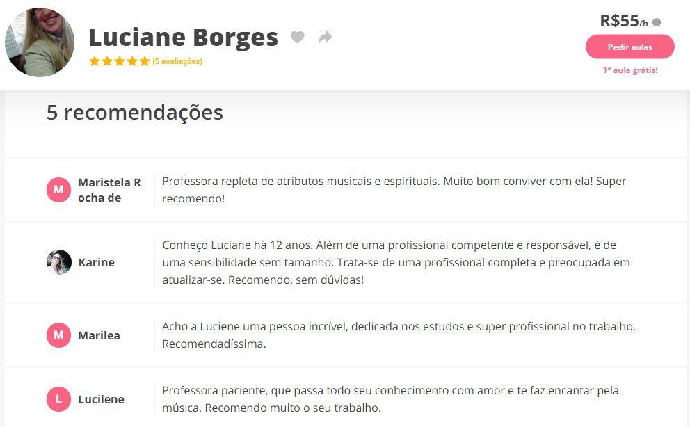 Aulas de Piano e Aulas de Teclado em Juiz de Fora Professora de Música Luciane Borges - Aprenda com confiança