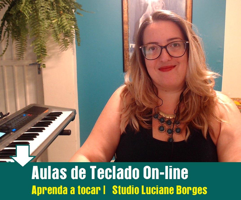 Aulas de TECLADO INICIANTE On-line para ADULTOS - Aprenda com confiança. Professora de Música Luciane Borges Loja Mineira do Músico Aulas de Teclado Adultos,  Jovens Senhores e Senhoras.