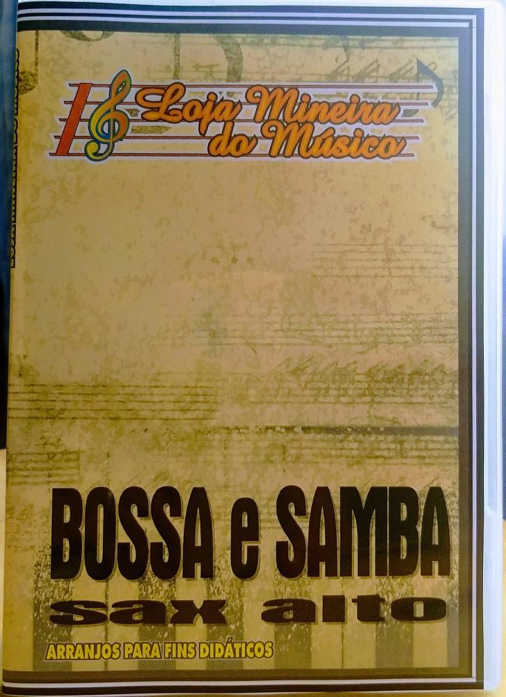 BOSSA NOVA E SAMBA SAX ALTO Partituras com Playbacks Sax Eb |Uma coletânea de partituras para Sax Alto feita de Musicas Brasileiras, quarenta partituras de samba e bossa nova para saxofone alto em PDF