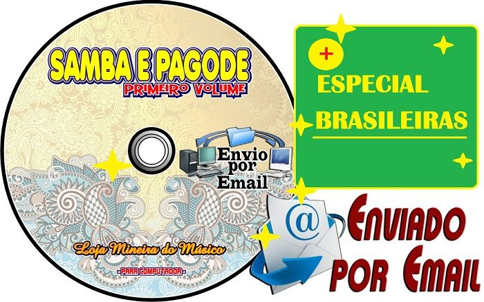 Kit CD Brasileiras Partituras com Playbacks + CD Samba e Pagode