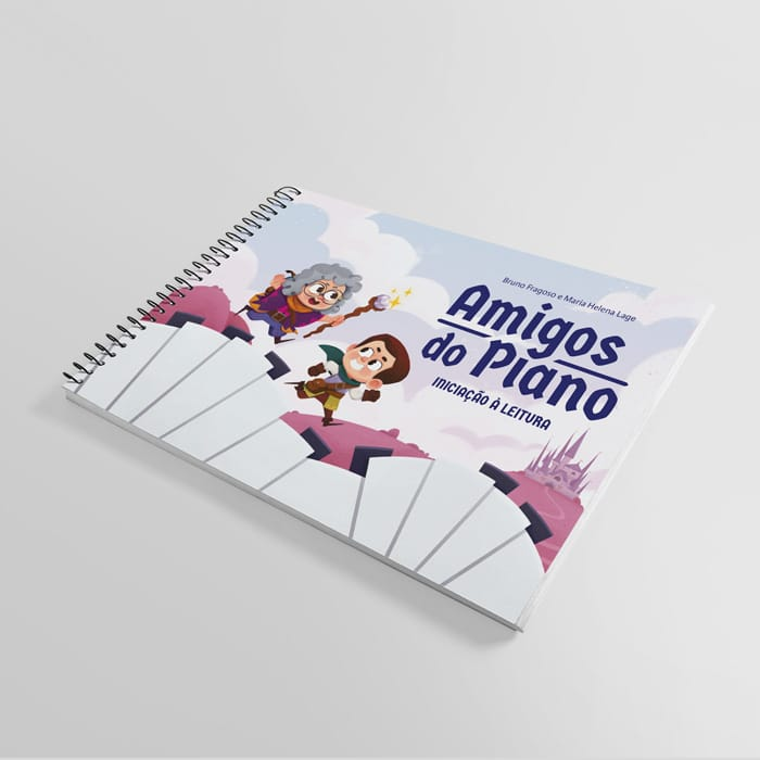 Livros de Piano Amigos do Piano Volumes 1 e 2 (Coleção de dois Livros para Professores de Piano Kit Musicalização Infantil Leitura Musical e Pré Leitura Musical Método e Repertório de Piano Brasileir