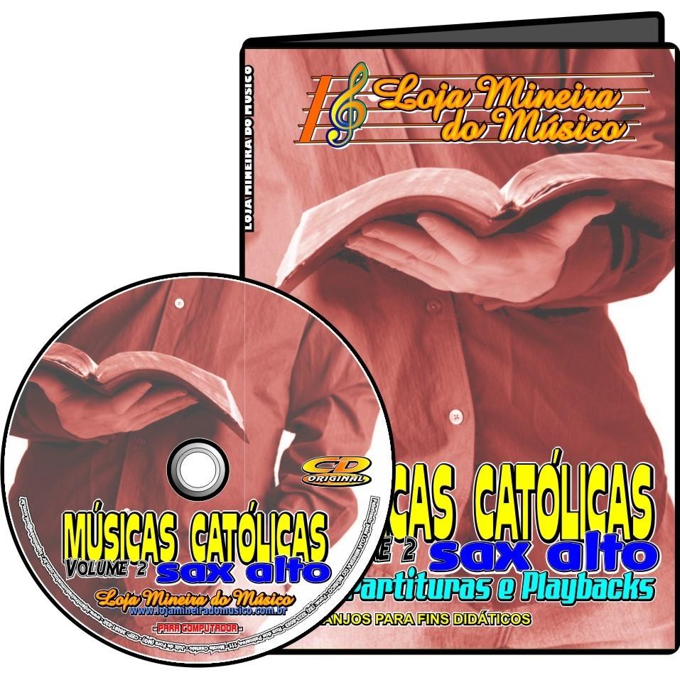 Lançamento Católicas Sax Alto Dupla Volume 1 + Volume 2 Católicas Partituras com Playbacks Kit