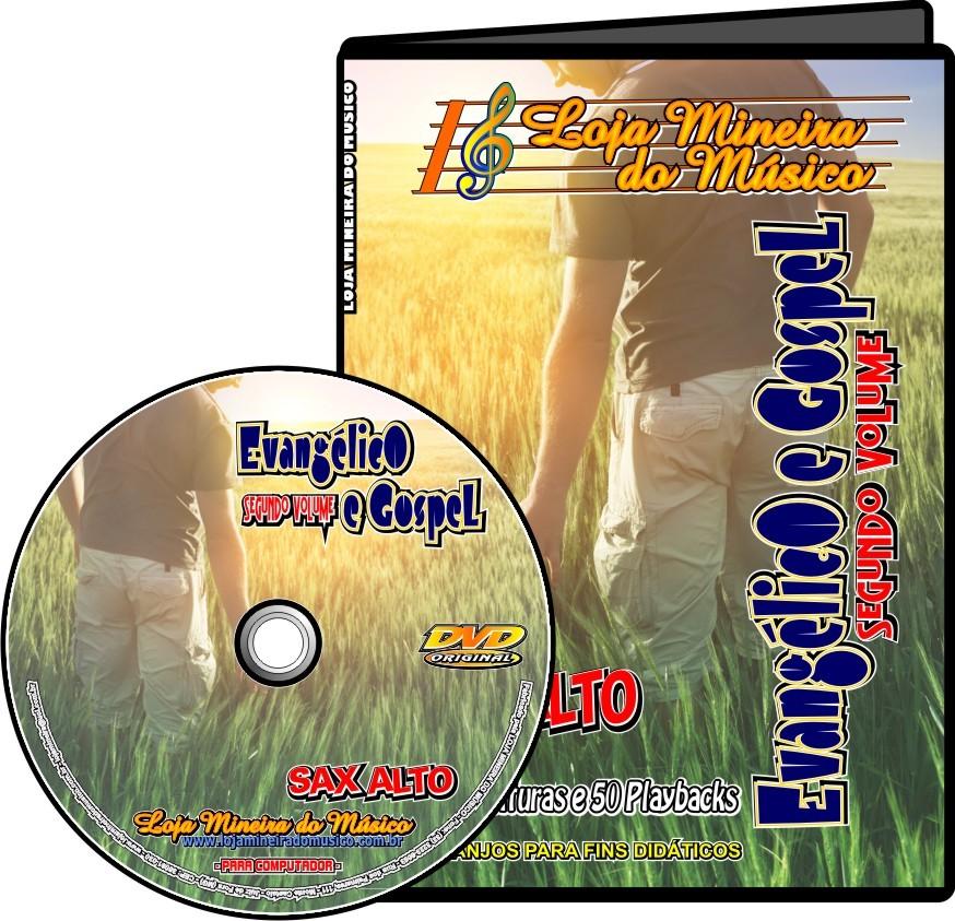 Lançamento Gospel Sax Alto Dupla Evangélicas Volume 2 + 60 Gospel Partituras com Playbacks Kit