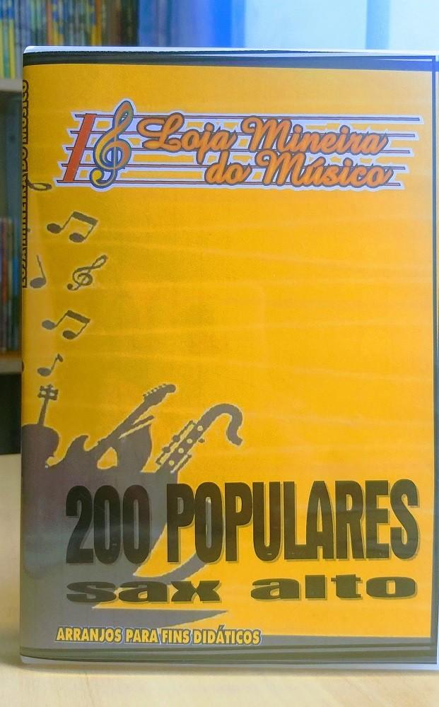 Lançamento Sax Alto Popular Dupla 200 Musicas Populares MPB e Internacional + Bossa Nova e Sambinhas Sax Alto Partituras com Playbacks Kit