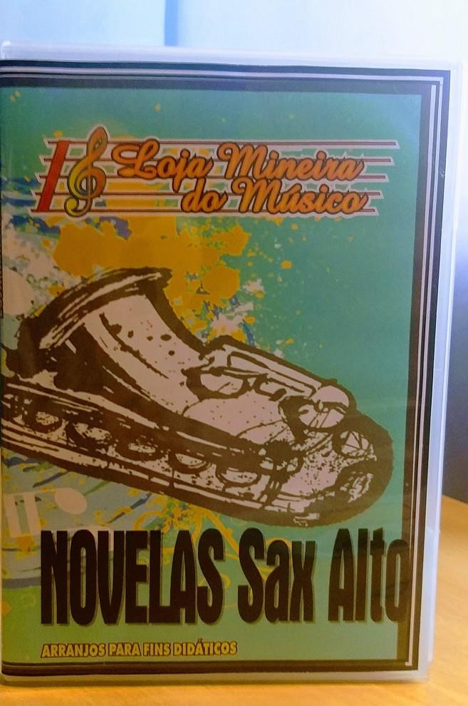 Lançamento Sax Alto Popular Internacional de Novelas Musicas Populares para Sax + Bossa Nova e Sambinhas Sax Alto Partituras com Playbacks Kit