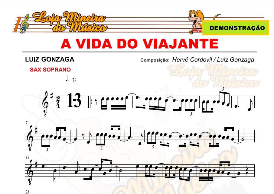 LUIZ GONZAGA Partituras Playbacks e Midis Forró Sertanejo Nordestino prontas para Tocar | Compatível com Teclado, Sax Alto, Sax Tenor, Sax Soprano, Violino, Flauta, Trompete,  Clarinete e Trombone.
