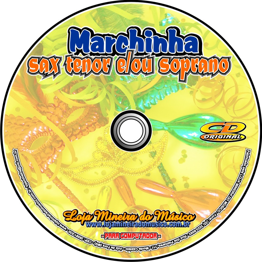 Marchinhas de Carnaval Partituras Midis Emendadas e MP3 Marchinhas Carnavalescas | Compatível com Sax Alto, Soprano, Tenor, Teclado, Flauta, Violino, Trompete, Clarinete e Trombone.