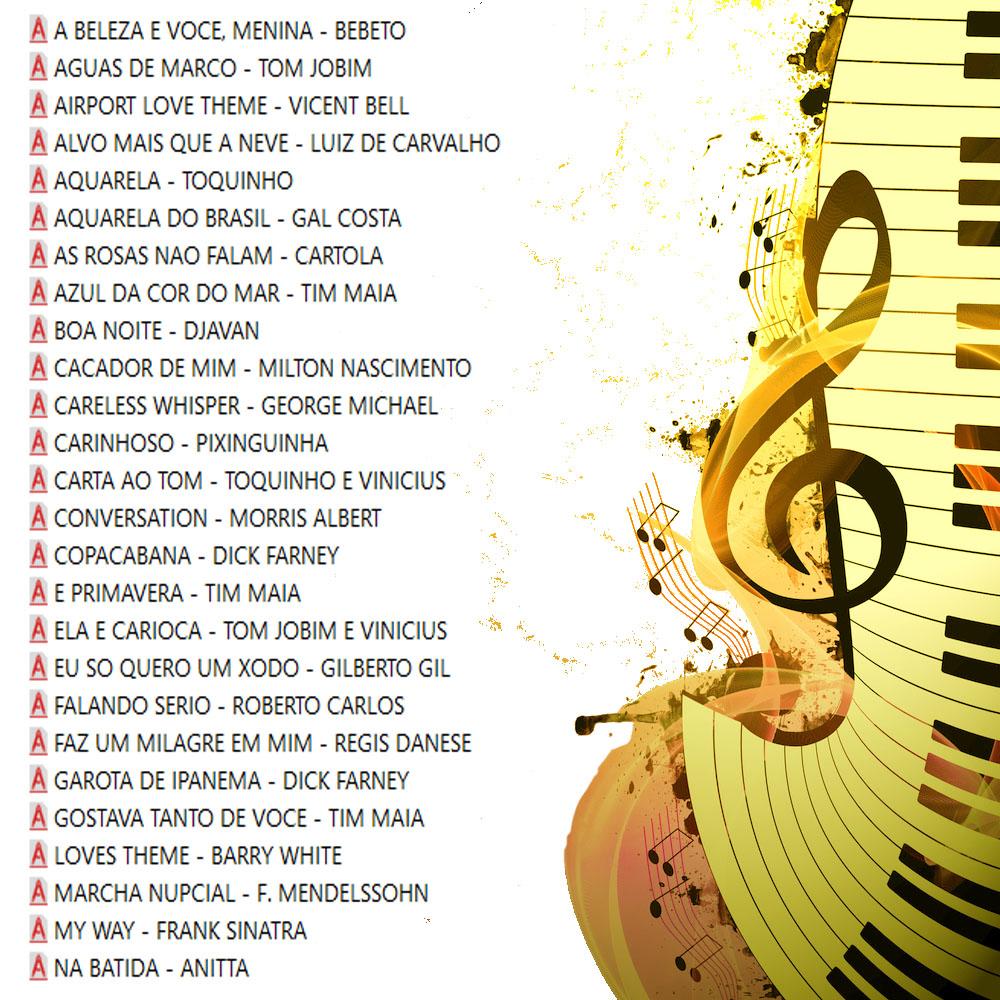 Mix Partituras Playbacks MPB Funk Bossa Gospel Samba