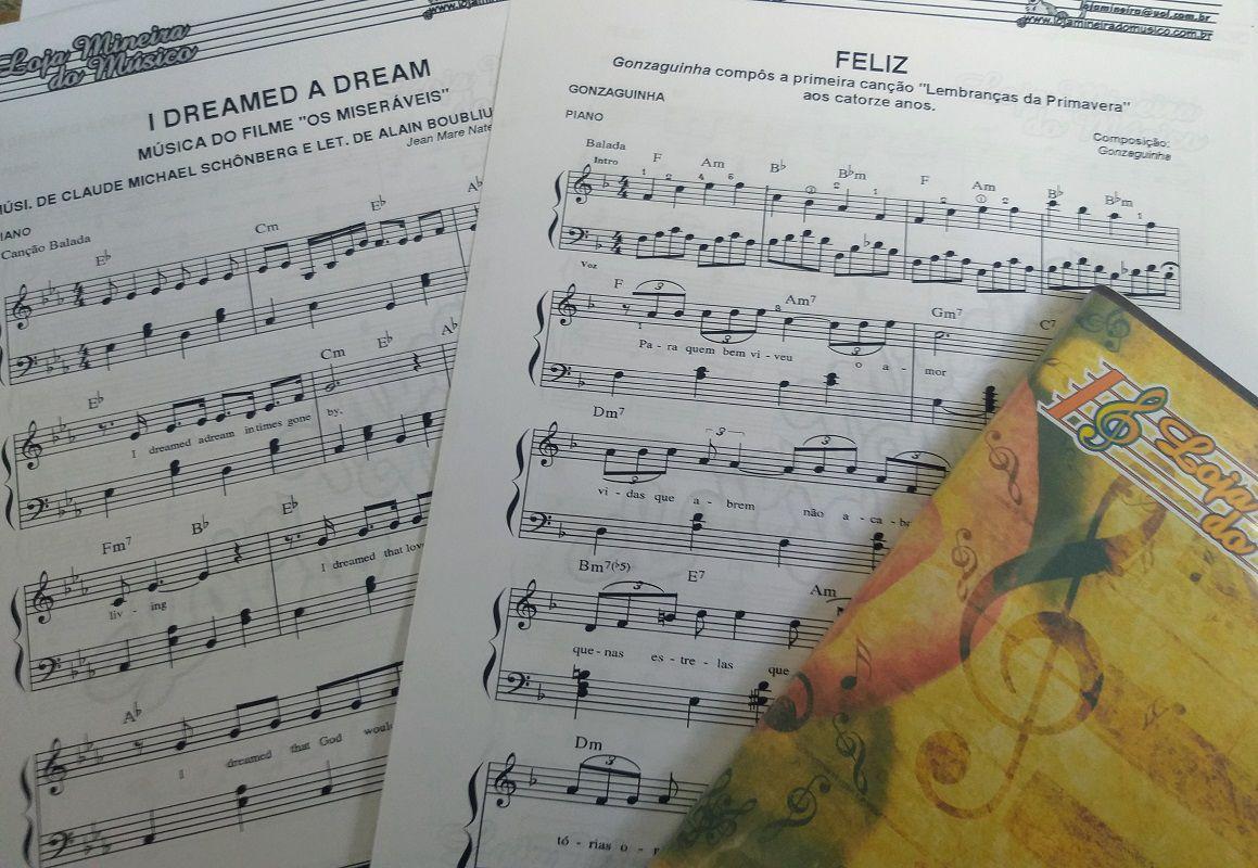 Pacote de Partituras Brasileiras para Piano MPB Meyre Brum Loja Mineira do Musico | Partituras para piano lista de partituras disponiveis para piano Catalogo partituras de piano MPB Brasileiras