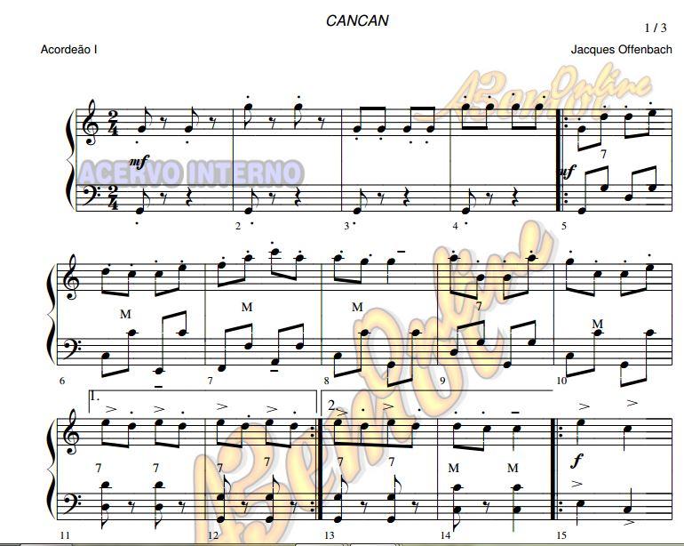 Partituras de músicas para Acordeon Volume 2