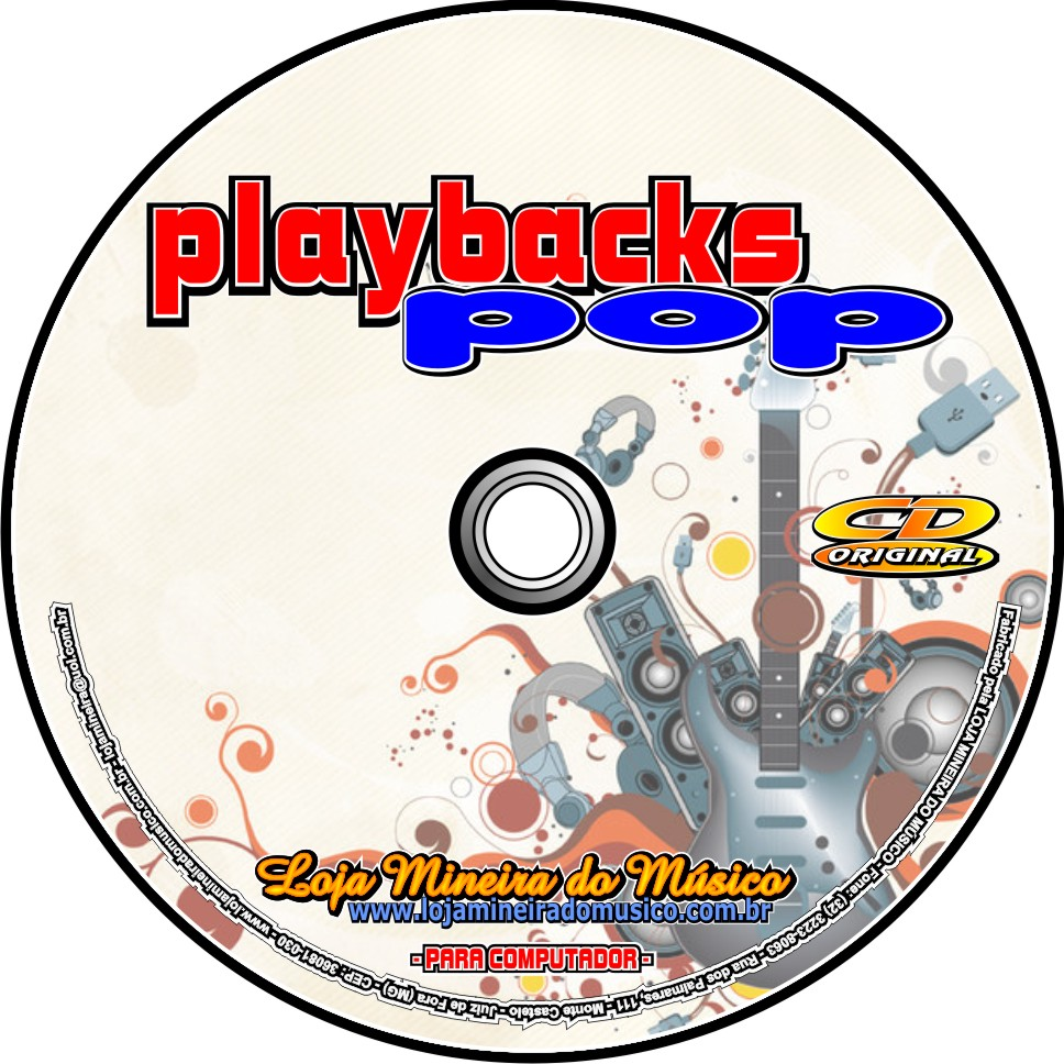 Playbacks Pop e Rock Playbacks | Sampleados de Midi Nacionais e Internacionais