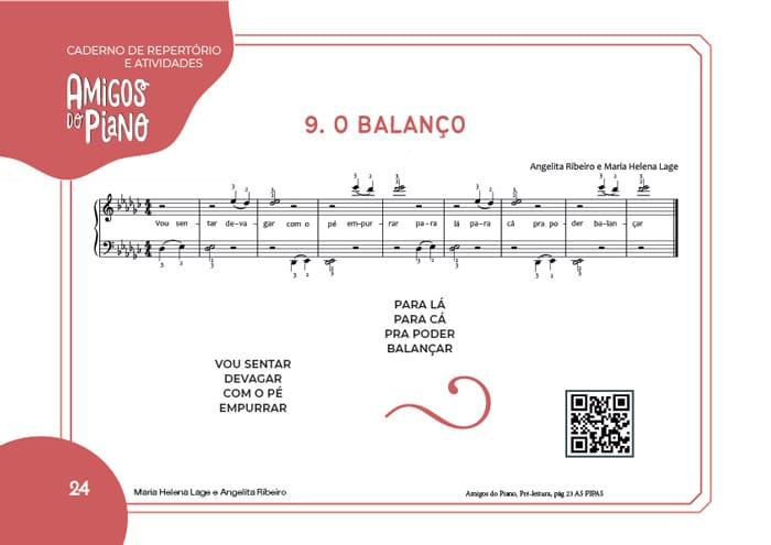 Pré-Venda Amigos do Piano Caderno de Atividades do Pré Leitura Lumah Cultura ( Parte 1 ) | Livro impresso Amigos do Piano