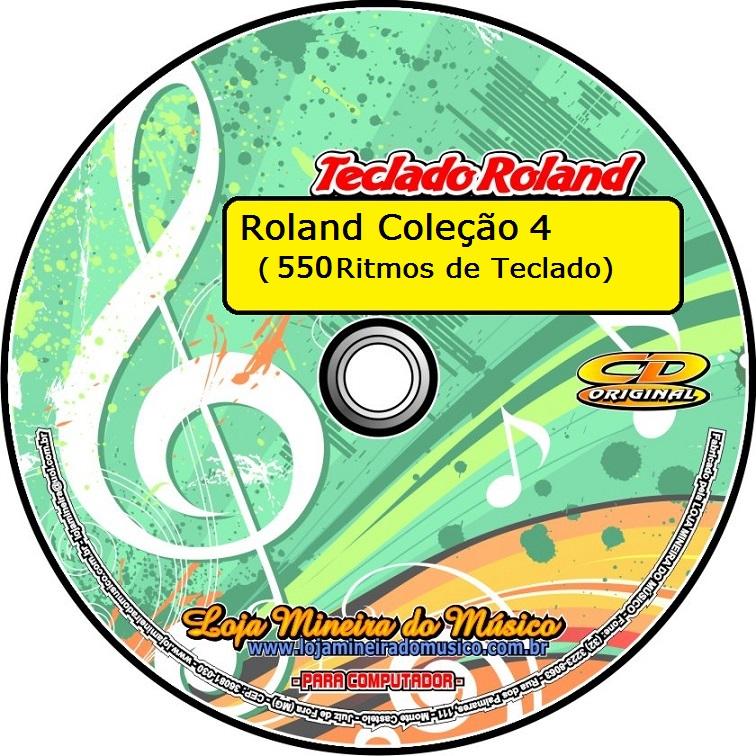 Coleção 4 Ritmos para Teclados Roland Mais de 550 Ritmos da Roland Genéricos