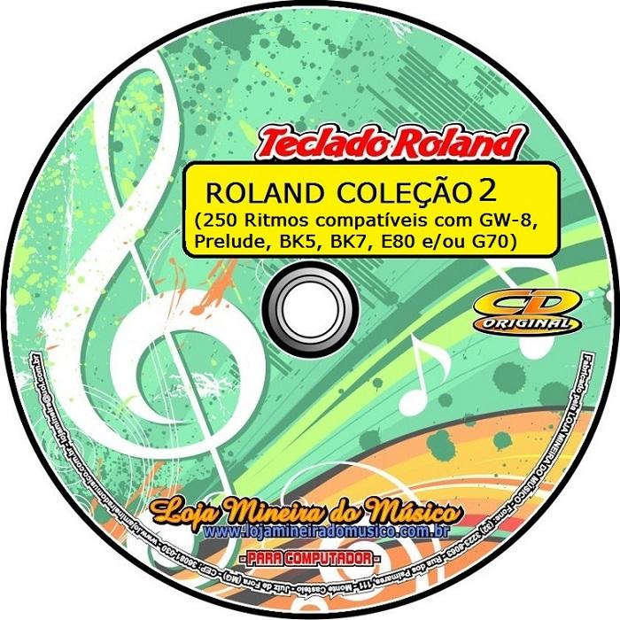 250 Ritmos Roland Coleção 2 com Ritmos para Modelos GW-8, PRELUDE, BK 5 e BK 7, E 80, G 70 da Roland | Xote, Vanerão, Bolero, Sertanejo, Pop, Rock, Balada, Roberto, Jovem Guarda, Românticas, Beatles