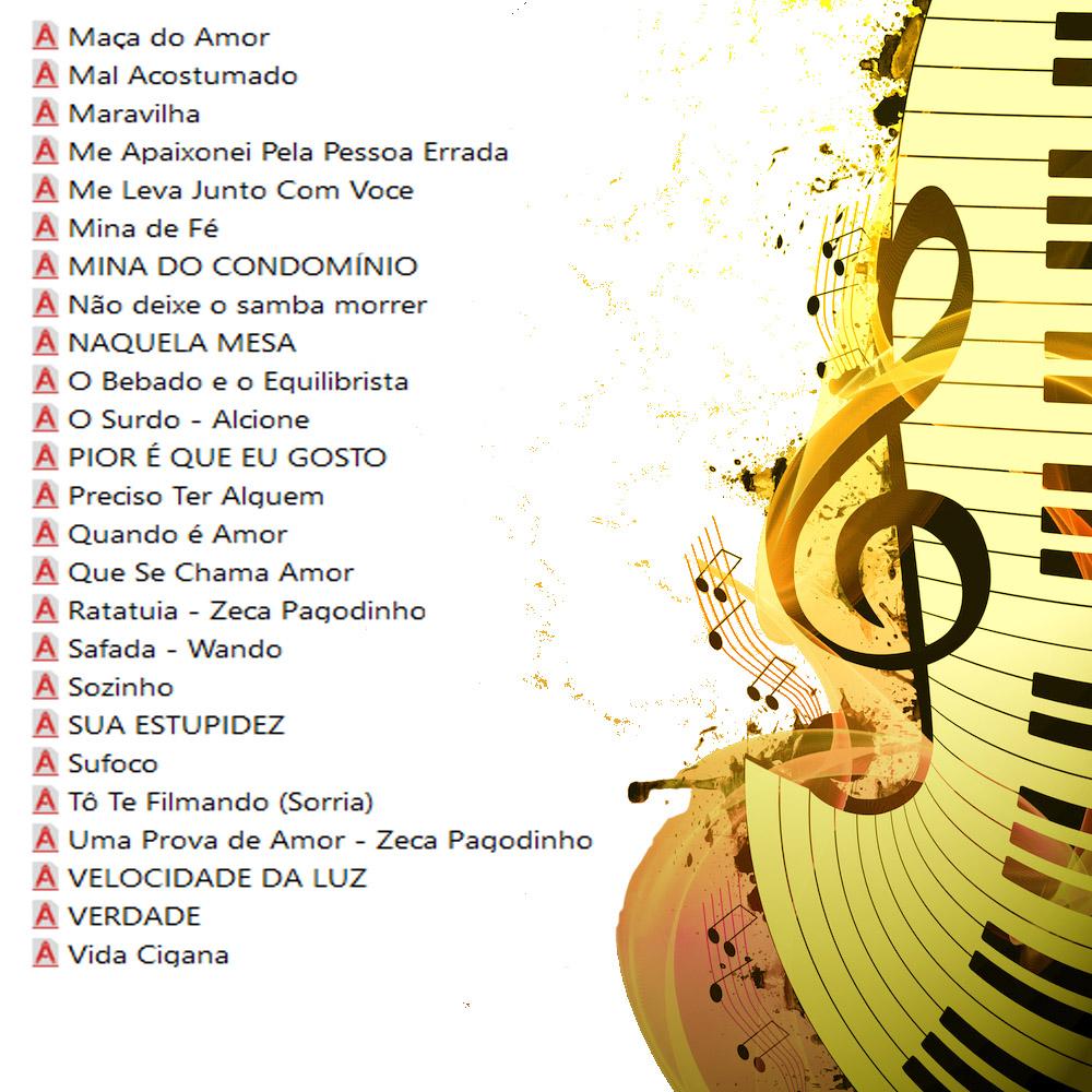Samba e Pagode Partituras com Playbacks