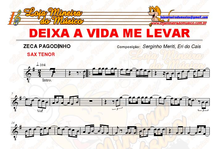 Samba e Pagode Partituras com Playbacks