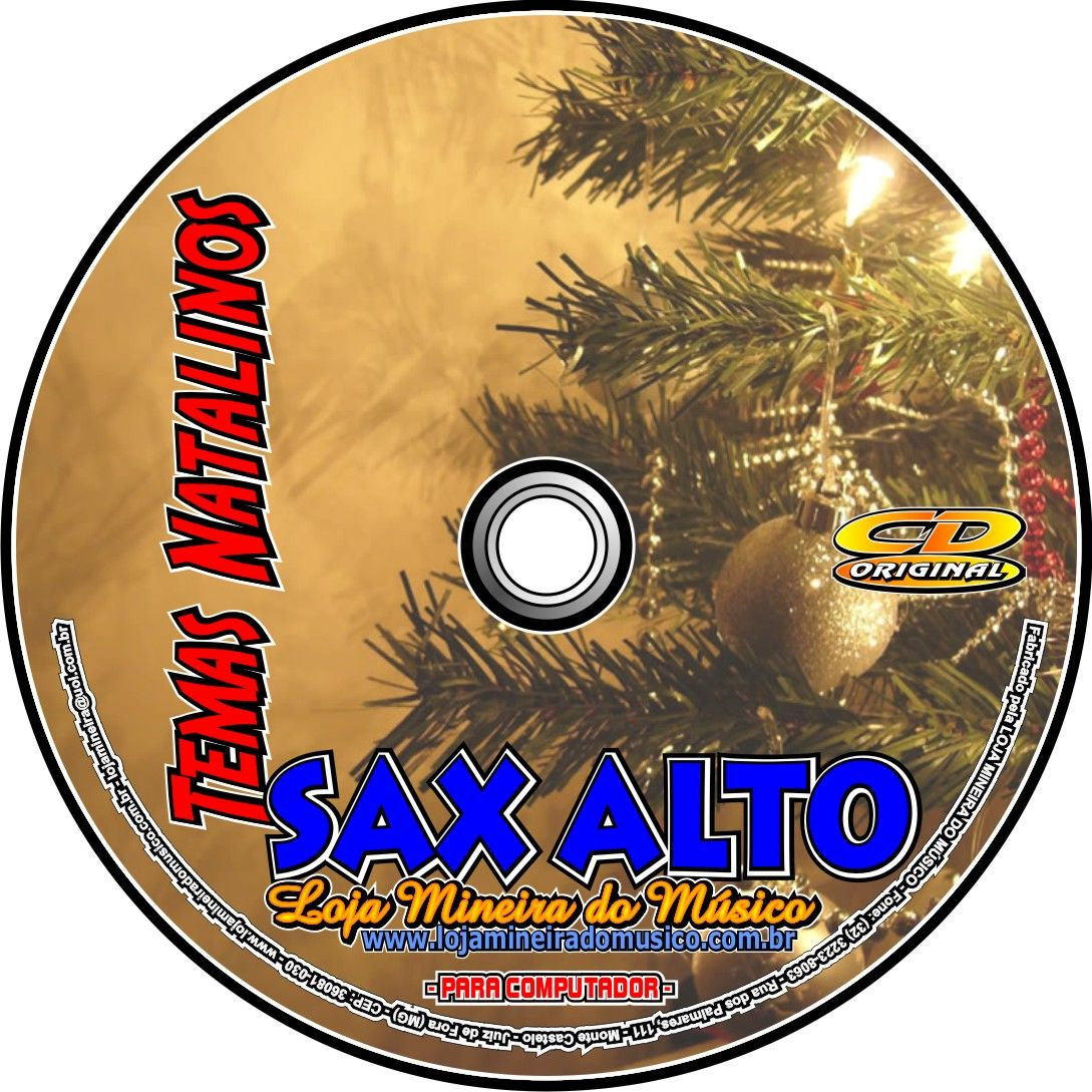 Sax Alto Partituras de Natal com Midis e MP3 Playbacks Natalinos