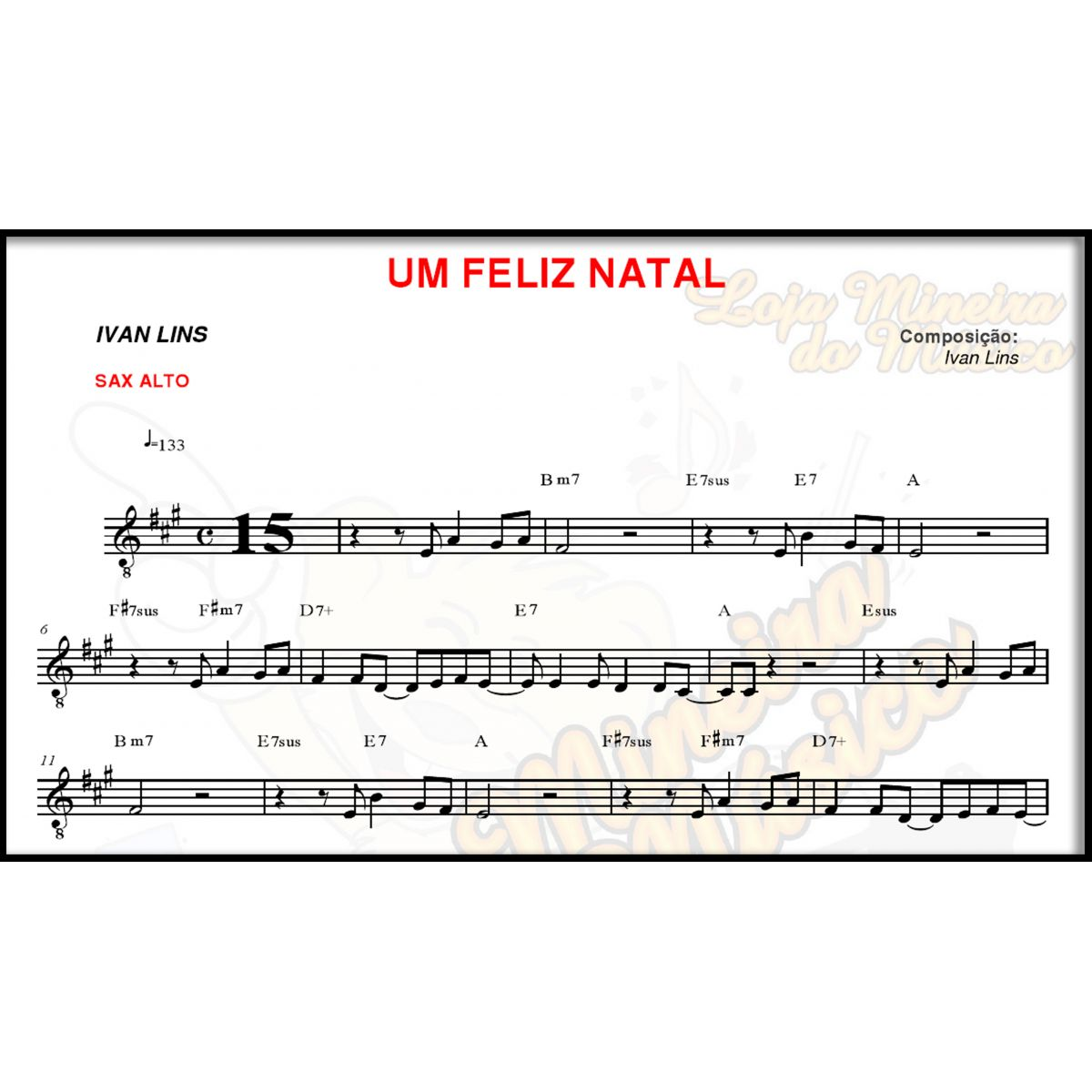 Sax Alto Partituras de Natal com Midis e MP3 Playbacks Natalinos