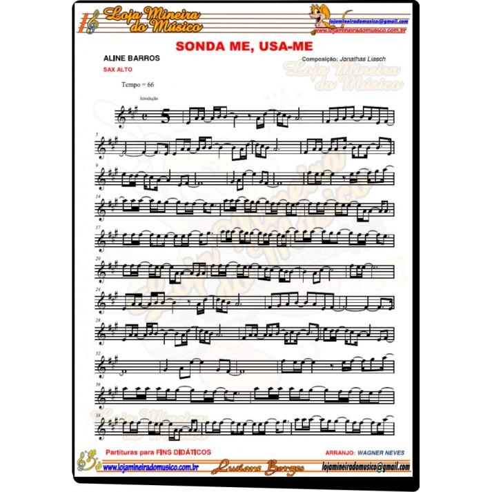 SAX ALTO Partituras Evangélicas com Playbacks Gospel 50 Músicas (Volume 1)