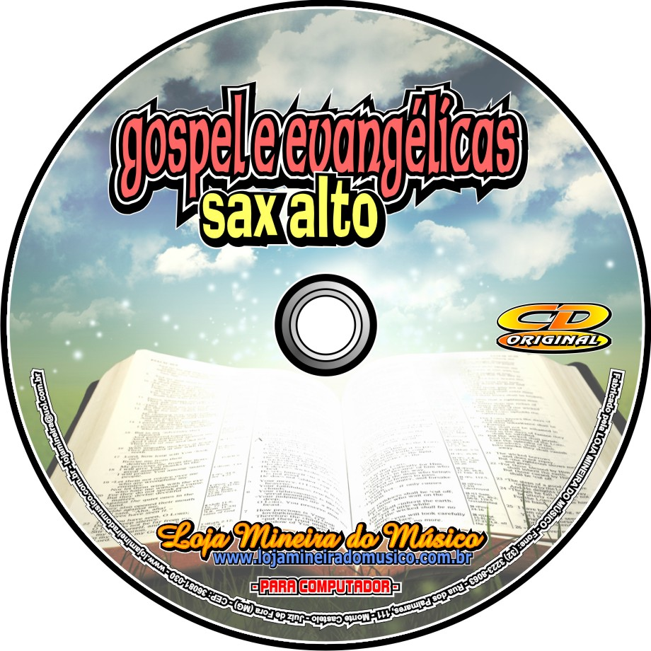 SAX ALTO 60 Partituras Gospel com Playbacks Gospel | Hinos Evangélicos