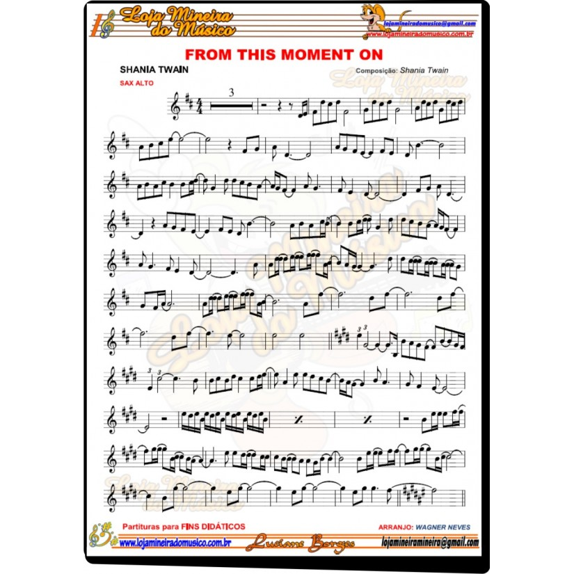 partitura from this moment pdf @lojamineiradomusico
