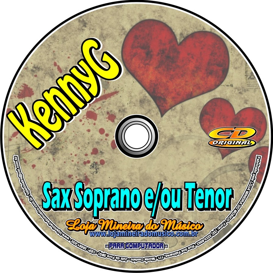 SAX TENOR e SOPRANO Partituras Kenny G com Playbacks Kenny G