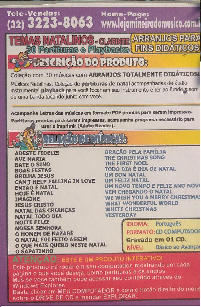 Sax Tenor e Soprano Partituras de Natal com Midi e MP3 Playbacks Natalinos