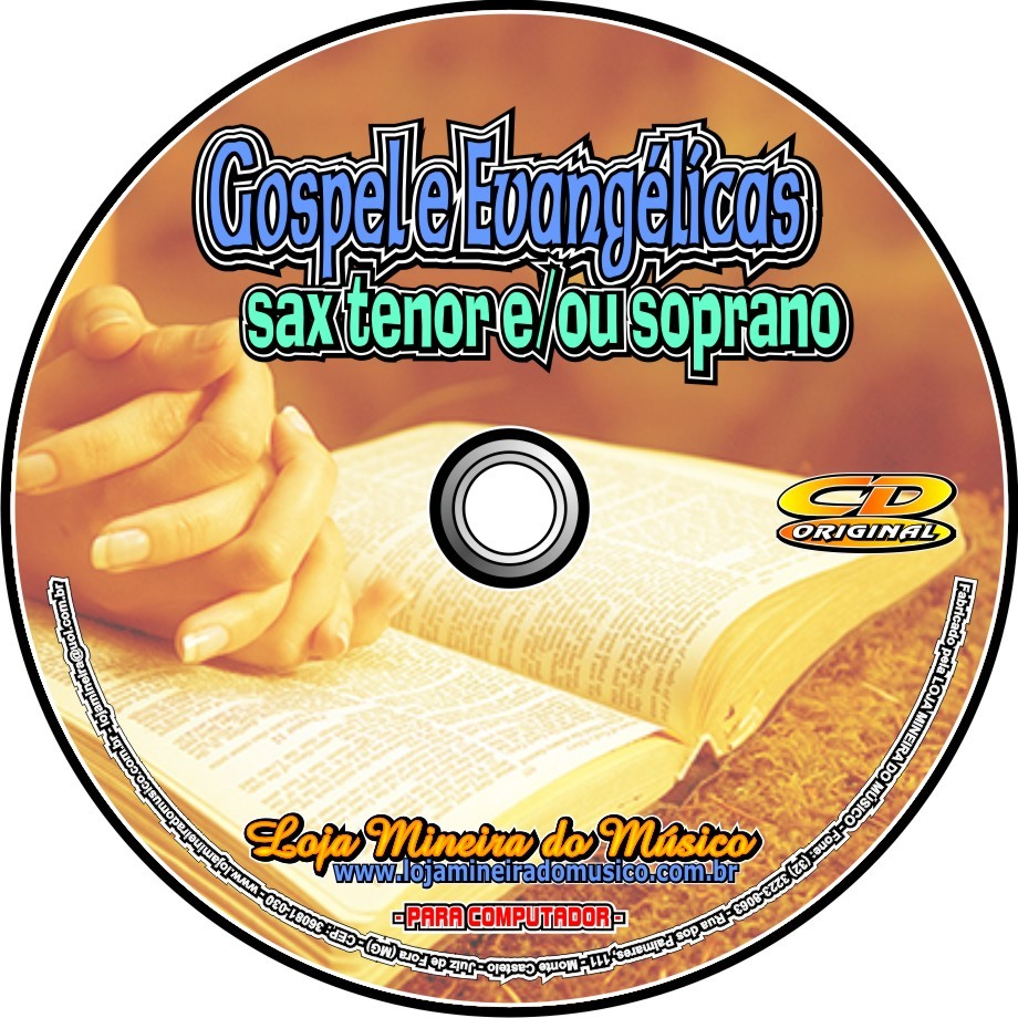 SAX TENOR ou SOPRANO  60 Partituras Gospel com Playbacks Gospel | Hinos Evangélicos