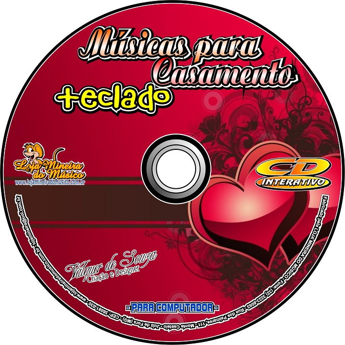 TECLADO Casamento Partituras com Playbacks de 40 Músicas em CD ( Teclado Popular e Clássicas )