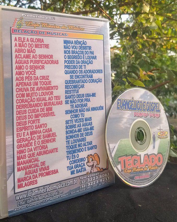 TECLADO Gospel Partituras Evangélicas com Playbacks Gospel 50 Músicas (Volume 1)