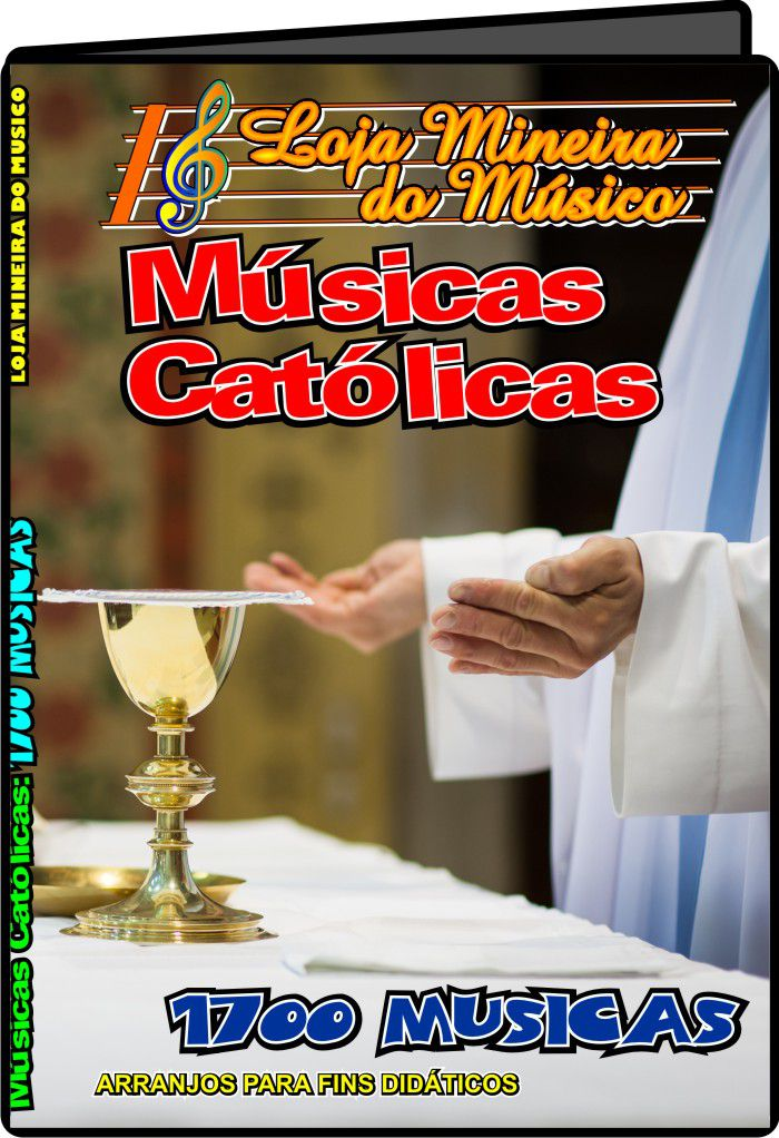 Teclado Partituras Católicas + de 1000 Partituras didáticas católicas (Ultimas unidades a venda)