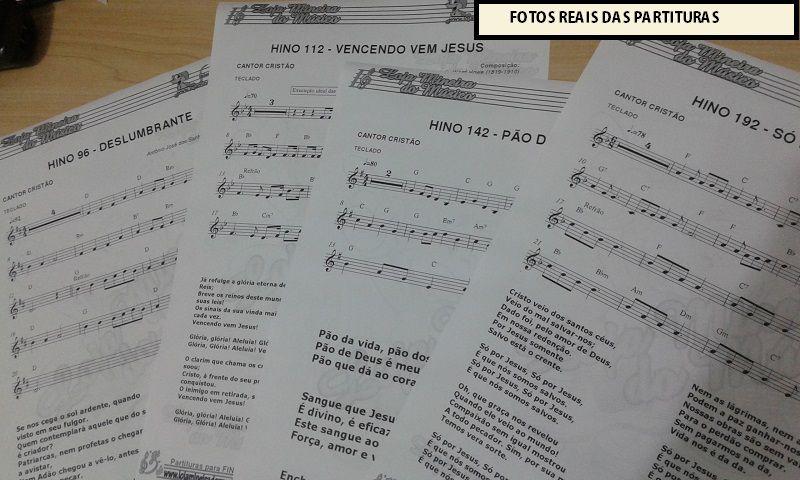 TECLADO Partituras Evangélicas com Playbacks Gospel (Volume 2) | 50 Hinos no Piano Teclado com Melodia e Cifras mais Playbacks