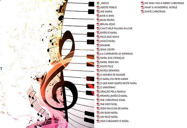 30 Músicas de Natal Partituras Natalinas Midis Mp3