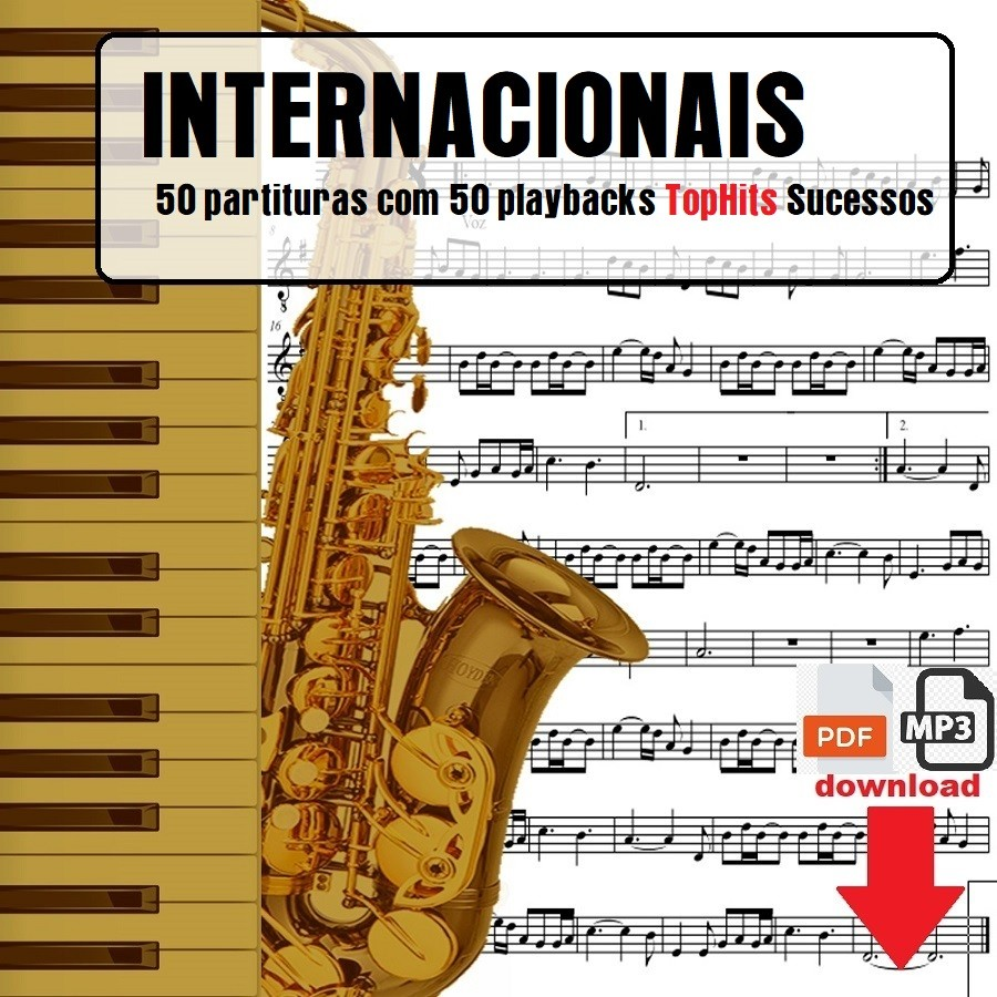 Top Hits Internacionais Sucessos 50 Partituras 50 Playbacks